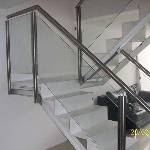 Barandas de acero inoxidable y vidrio zona oeste zona - Escaleras de acero y cristal ...