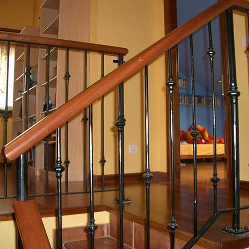 Escaleras de acero inoxidable barandas de hierro y madera para escaleras zona oeste zona norte - Baranda de madera ...