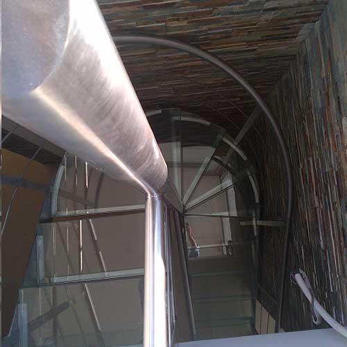 Escaleras Caracol Vidrio y AceroZona OesteZona NortePilarMoreno