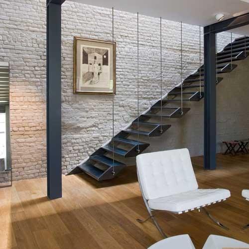 escaleras rectas en mensula